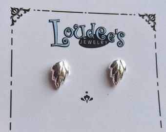 Leaf Fine Silver Stud Earrings