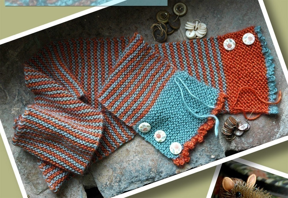 Buttons and Stripes Hand Knit Scarf Pattern ONLINE ...