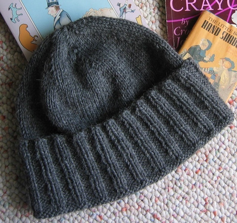 da673a49e80 Knitting Pattern Hat and Scarf New York A Guy s Wool Hat