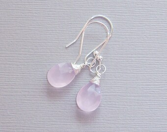 Pink Chalcedony wire wrapped
