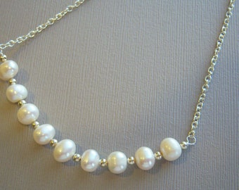 Freshwater Pearls and Silver Beads Pendant