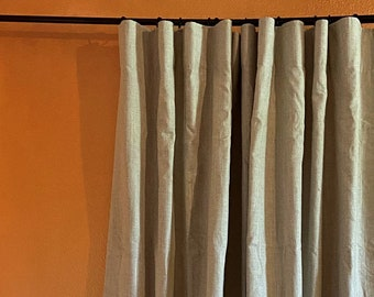 Clearance: Belgian Soft Oatmeal Linen Drape with Thermal Lining