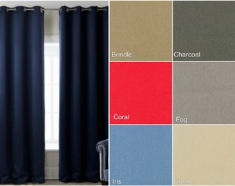 Custom Cotton Solid or Color Block Drape with Lining - You pick the colors