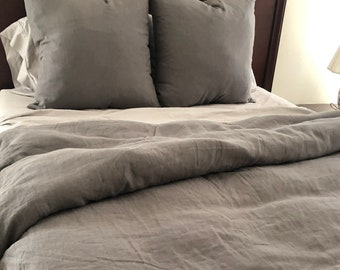 Ritz Belgian Linen Duvet Cover and shams - You pick the fabric