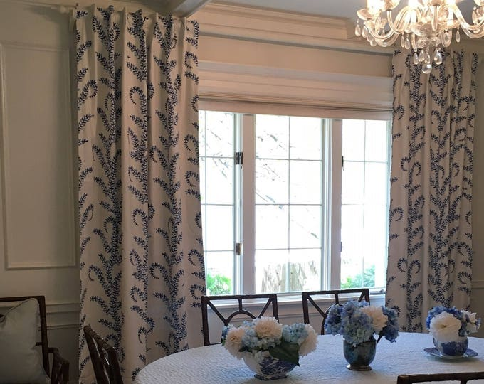 Featured listing image: Custom John Robshaw Prasana Blue Drapes You pick the style - Lined