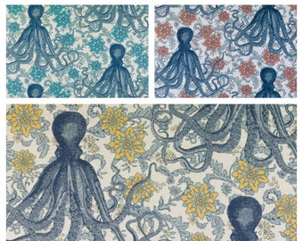 Custom Designer Thomas Paul Vineyard Octopus Drapes You pick the fabric and style - Lined