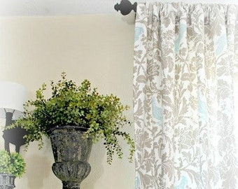 Pair Ring Top Style Blue Bird Lined Drapes - Ready to ship