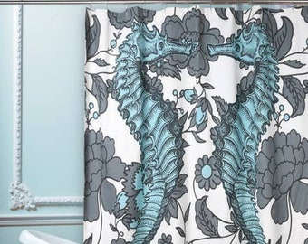 Thomas Paul Seahorse Vineyard Shower Curtain