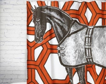 Thomas Paul Thoroughbred Geo Shower Curtain