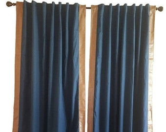 Custom Bentley Club Drape with Leather Trim- You pick the color