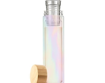 Iridescent Glass Tea Infuser on the go Mug