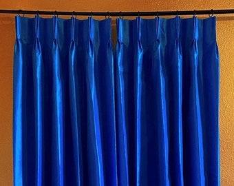 Tara Taffeta Royal Turk Pinch Pleat Lined Drape