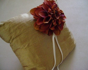 Marquis Gold Ring Bearer Pillow