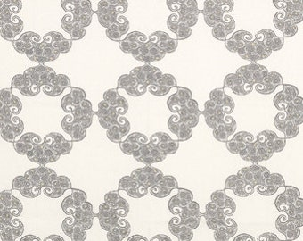 John Robshaw Kinva Grey 21036-15 Fabric by the yard