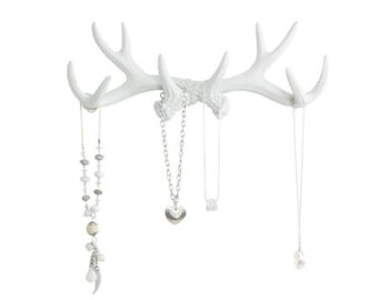 Antler Wall Rack - white or silver