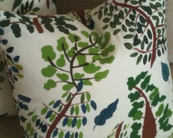 "2 Tree Pillow Covers 16"" x 16"""