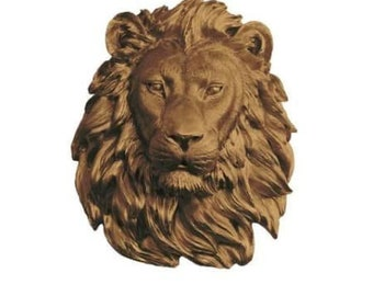Bronze Lion Head Wall Art