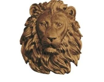Bronze Lion Head Wall Art