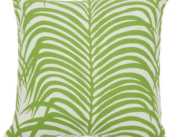 Zebra Palm Pillow Cover