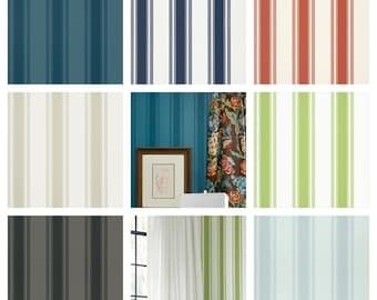 Thibaut Brittany Stripe Wallpaper (Packaged in double rolls)  (other colors available)