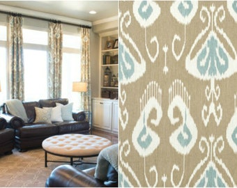 Custom Bansuri Ikat Drapes with Lining