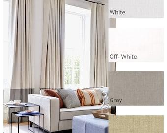 Custom Linen Color Block Drape with Lining