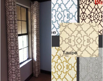 Custom Lattice Drapes with Lining - You pick the color