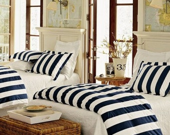 Custom Nautical Duvet Cover and shams - You pick the fabric