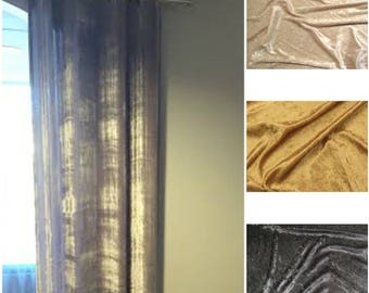 Lustre' Velvet Lined Drape- you pick the color
