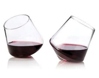 Oxygenating Rolling Wine Glasses