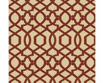 2.5 yards Iman Sultana Lattice Fabric Amarylis