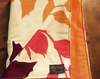 Mod Leaf Minky Baby Blanket
