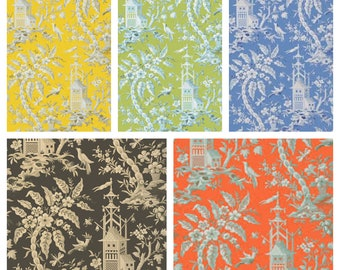 Thibaut Pagoda Garden Fabric (other colors available)