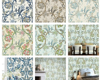 Thibaut Peacock Garden Wallpaper (Packaged in double rolls)  (other colors available)