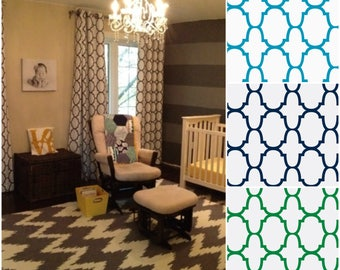 Custom Riad Quatrefoil Design Drapes  - Lined (various colors and sizes)