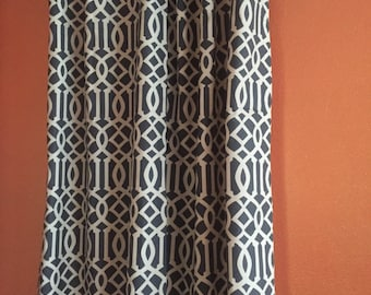 Charcoal Grey Imperial Trellis Drapes - Ready to ship