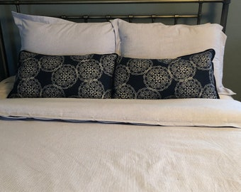 Oxford Cotton Duvet Cover and shams - You pick the fabric