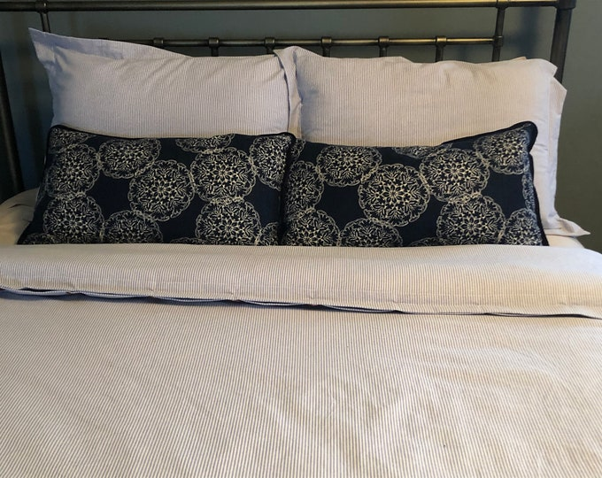 Featured listing image: Oxford Cotton Duvet Cover and shams - You pick the fabric