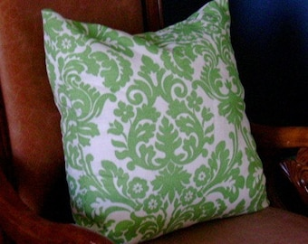 2 Pillow Echelon Down Feather Set in Grass Green-Ready to ship