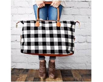 Classic Buffalo Plaid Weekender Bag