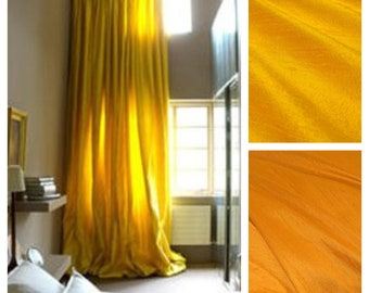 Silk Dupioni Drape with Lining - You pick the color