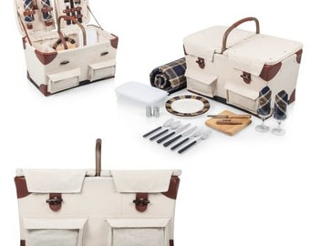 Charleston Picnic Basket  and picnic blanket set