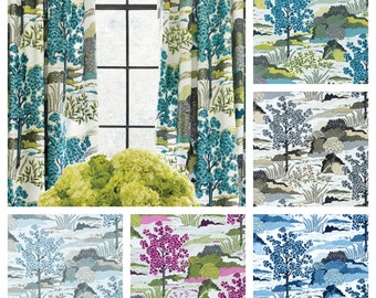 Custom Designer Thibaut Daintree Drapes You pick the fabric and style - Lined