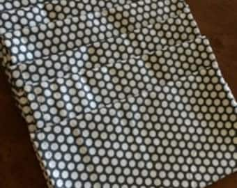 Mod Charcoal Dot Cloth Napkin - Ready to ship