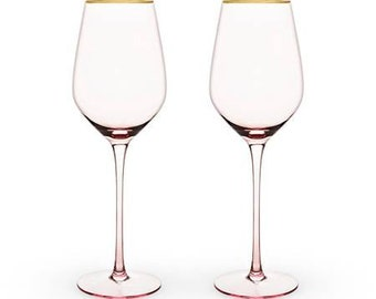 Rose Crystal Wine Glasses