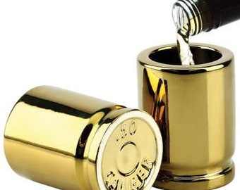 50 Caliber Bullet Shot Glass