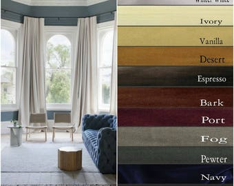 Luxurious Velvet Drapes - Lined