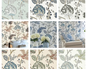 Thibaut Anna French Kalamkari Vine Wallpaper (Packaged in double rolls) (other colors available)