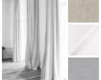 Belgian Soft Linen Drape with Lining