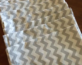 Mod Gray Chevron Cloth Napkin - Ready to ship